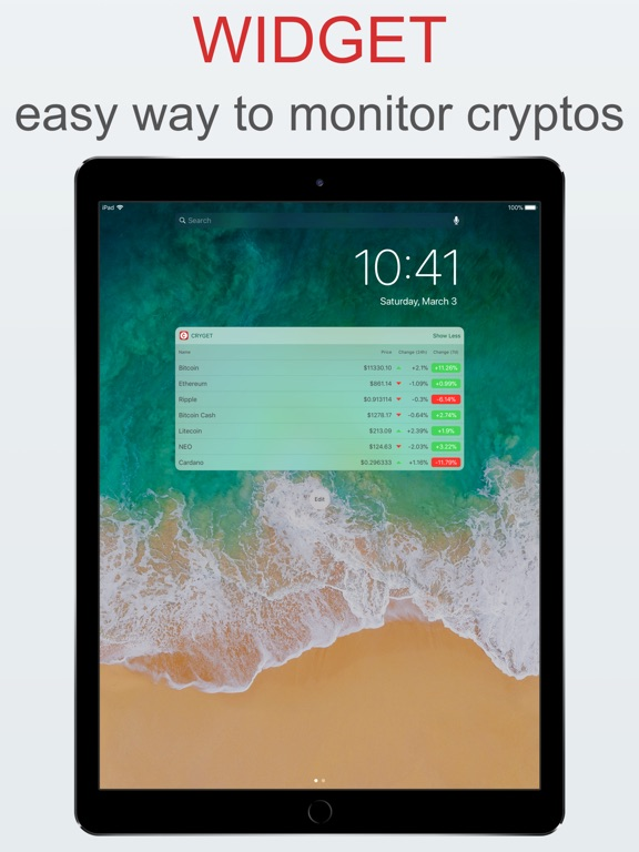 Cryget - Cryptocurrency Widget Preview 4