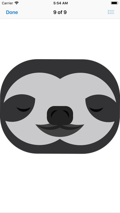 Slow Sloth Stickers screenshot-9
