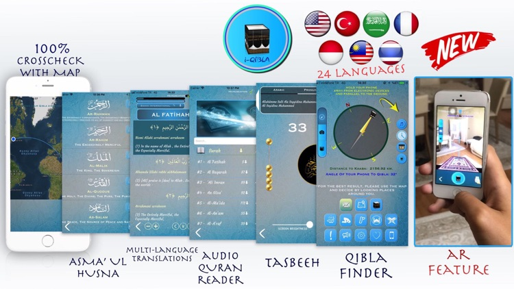 Qibla Finder, Qibla Compass AR