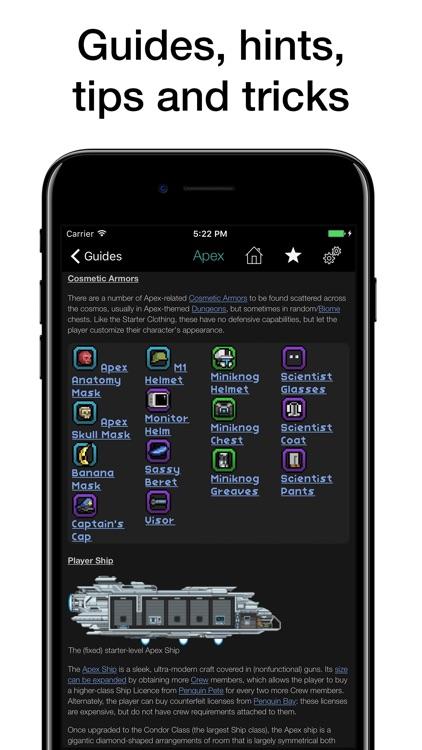 Pocket Wiki for Starbound