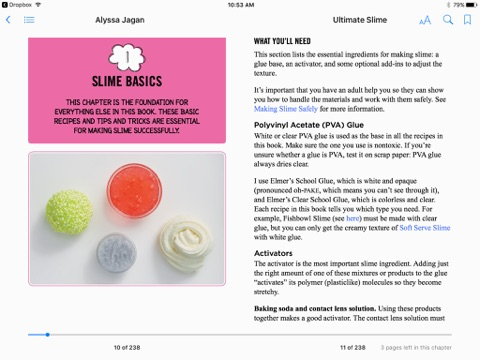 Ultimate slime by alyssa jagan on ibooks screenshot 1 ccuart Image collections