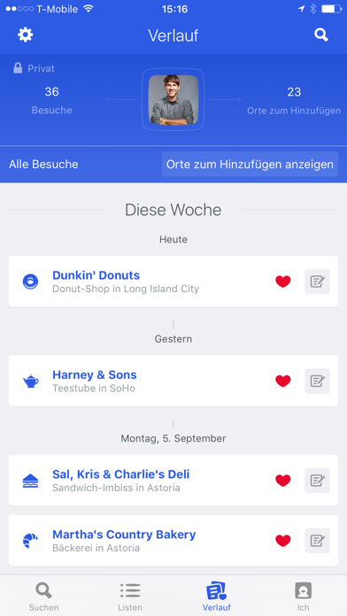 Screenshot for Foursquare City Guide in Germany App Store