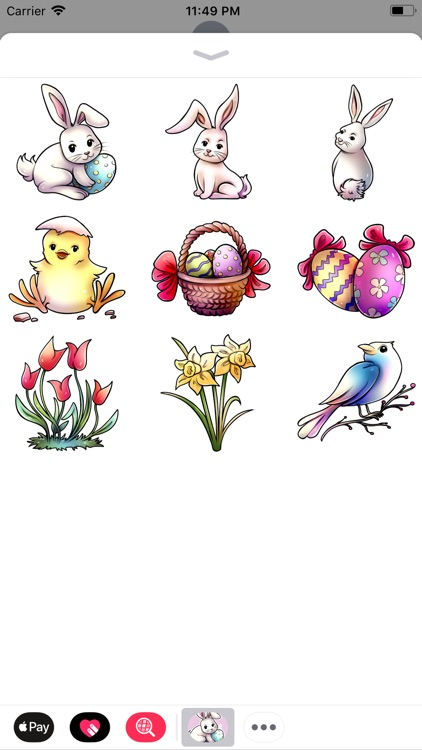 Easter Stickers | Comic Style