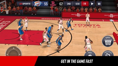Screenshot of NBA LIVE Mobile Basketball App