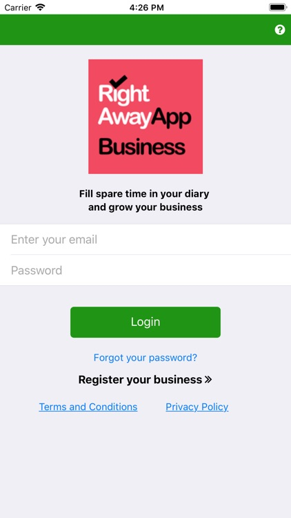 Right Away Business App