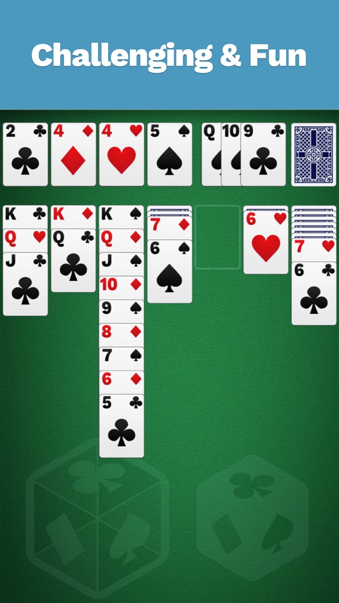 Solitaire Cube, Classic Cards Screenshot