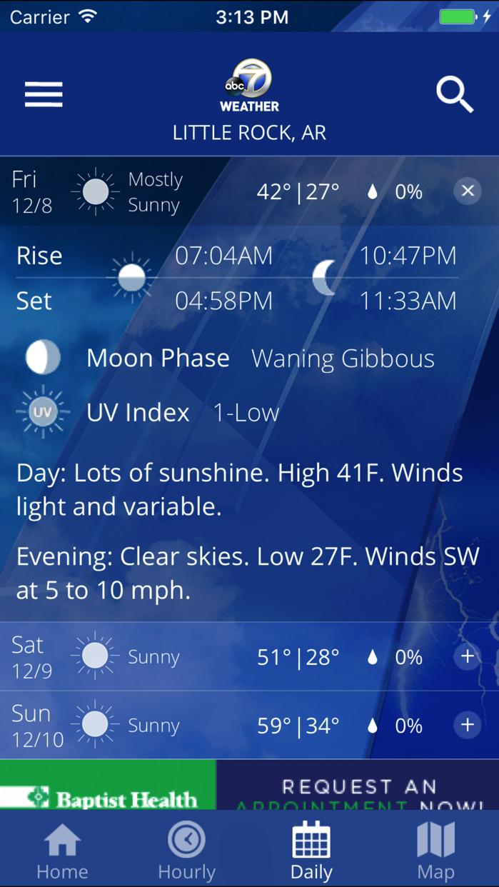 KATV Channel 7 Weather Screenshot