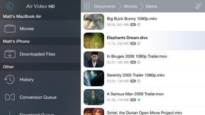 Air Video Hd review screenshots