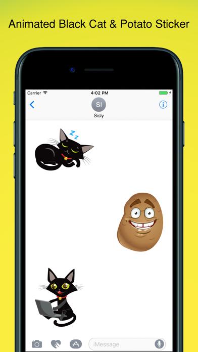 Black Cat Sticker! screenshot four