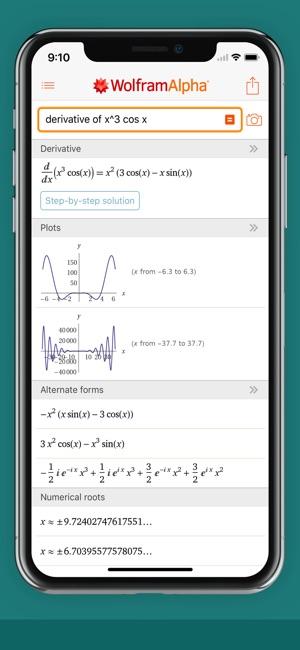 WolframAlpha Screenshot