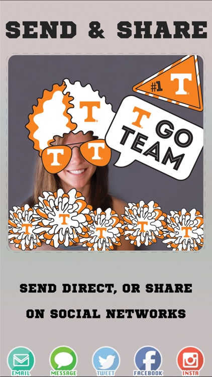 Tennessee Volunteers Selfie Stickers screenshot-3