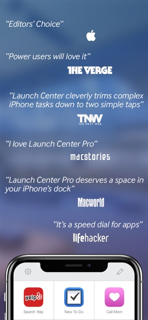 Launch Center Pro Screenshot