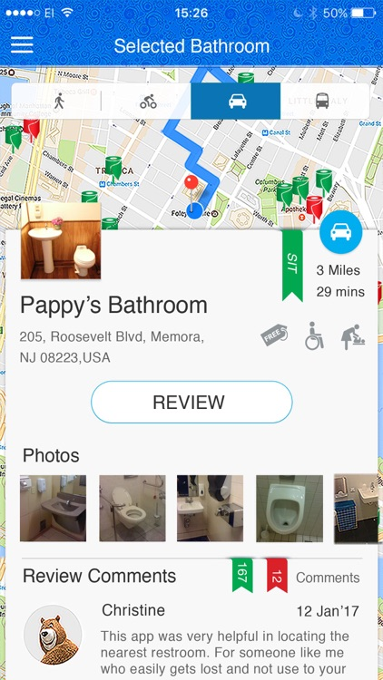 SitOrSquat: Restroom Finder