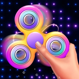 Neon Fidget Spinner Simulator