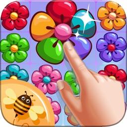 Flowerz Garden Merging - Link Color Match Puzzle