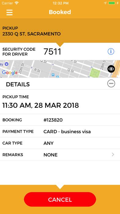 Yellow Cab Co of Sacramento screenshot four