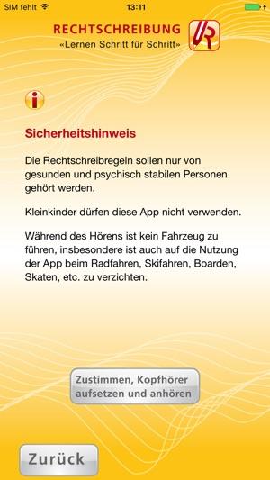 Rechtschreibung App Screenshot