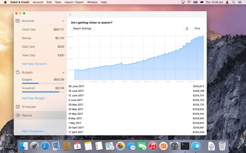 Debit & Credit - Personal Finance Manager for Mac