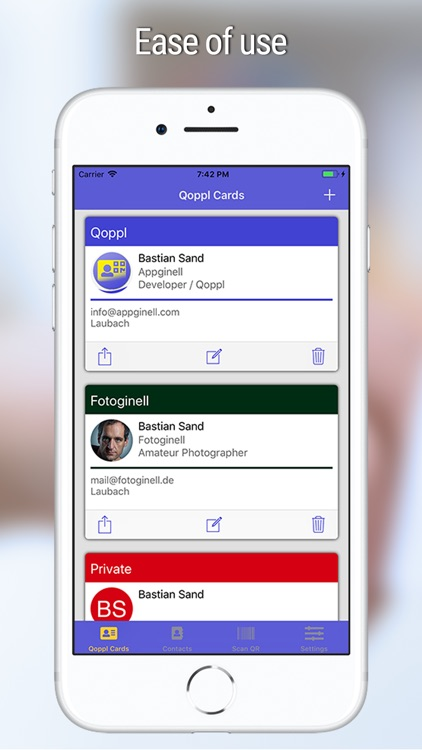 Qoppl - A QR Business Card App