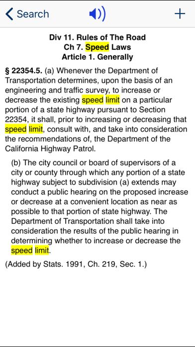 CA Vehicle Code 2019 screenshot three