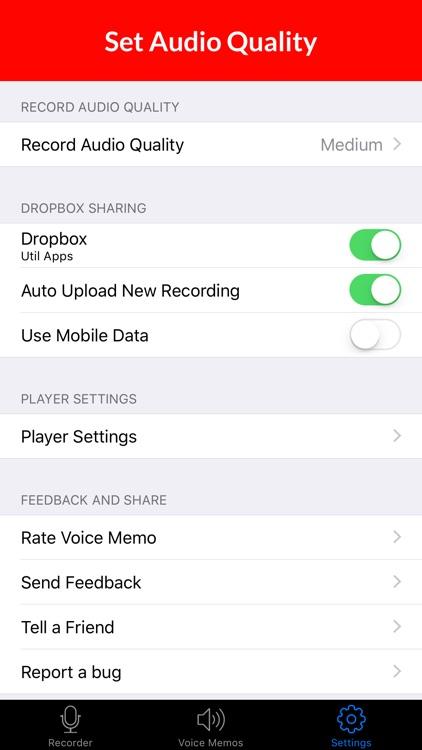 Voice Memos HD screenshot-4