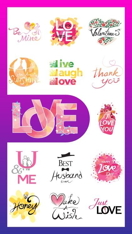 Amour - Romantic Love Stickers