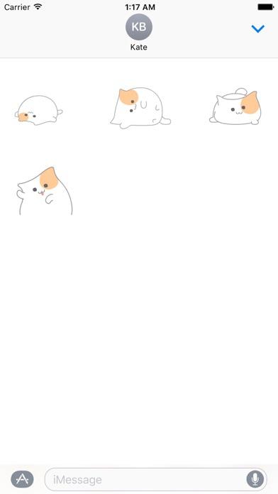 Animated So Cute Cat Sticker screenshot 3