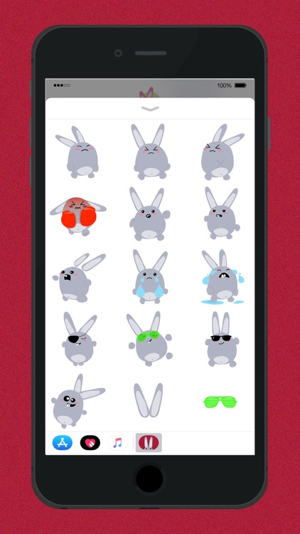 Fun Bunny iMessage Stickers screenshot-5