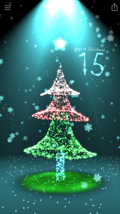Christmas Countdown 3D Tree screenshot-3