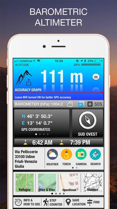 Screenshot for Altimètre GPS PRO in France App Store