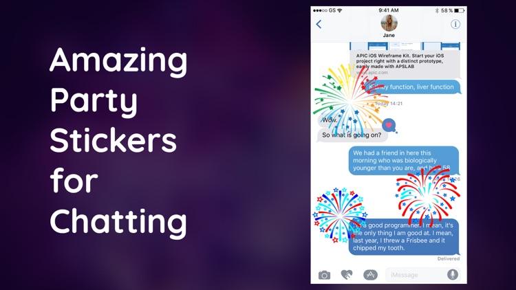 Animated Fireworks Stickers IM screenshot-3