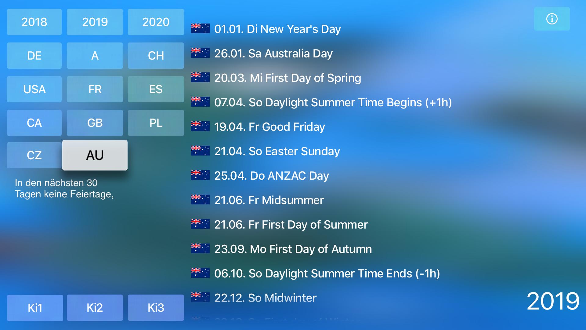 Holidays for TV screenshot 10