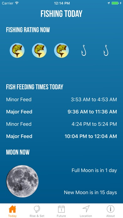 Solunar best fishing times app data review weather for Fishing weather app