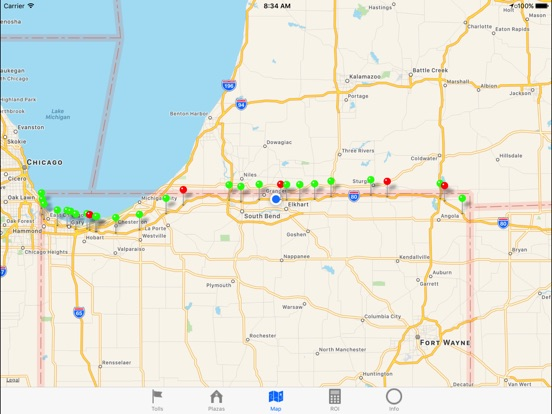 Indiana Toll Road Map Indiana Toll Road 2018 | App Price Drops Indiana Toll Road Map