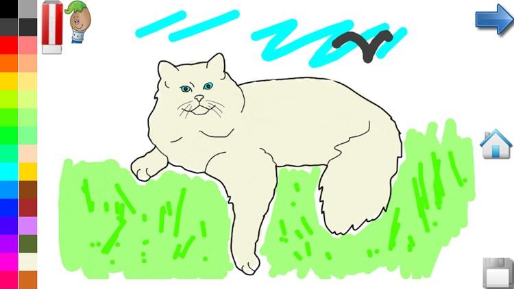 Coloring Book : Cats & Kittens screenshot-3