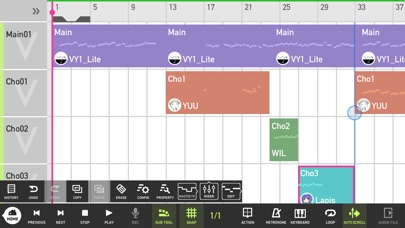 Mobile VOCALOID Editor screenshot1