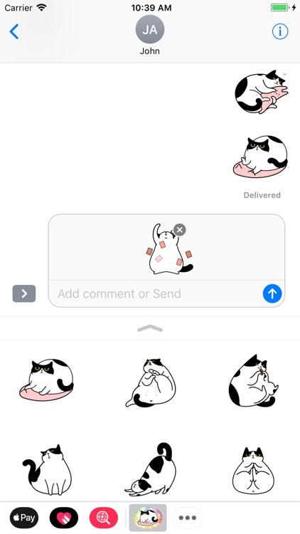 Fat Lazy Cat - Fx Sticker screenshot-3