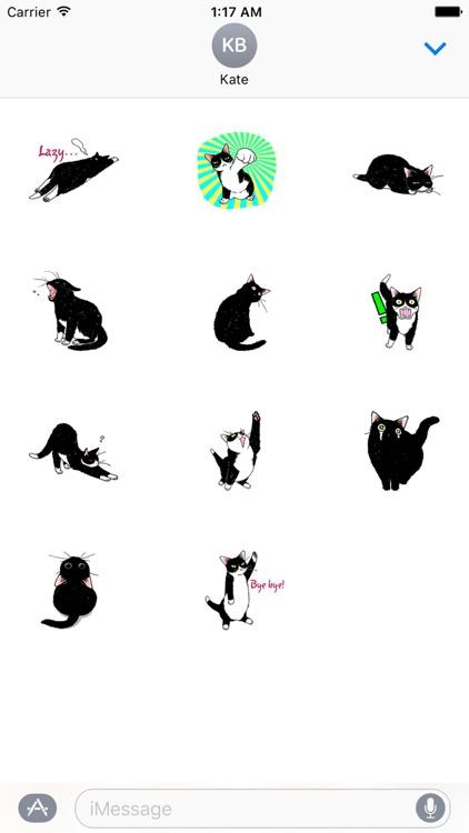 Catmoji - Adorabel Black Cat Sticker