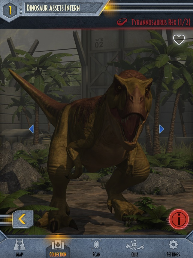 Jurassic World Facts on the App