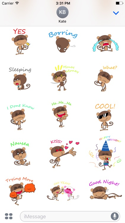monkey emojis sticker