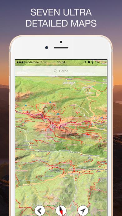 高度計GPS - 地図、コンパス&気圧計付き ScreenShot1