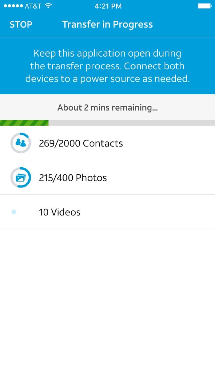 AT&T Mobile Transfer Screenshot