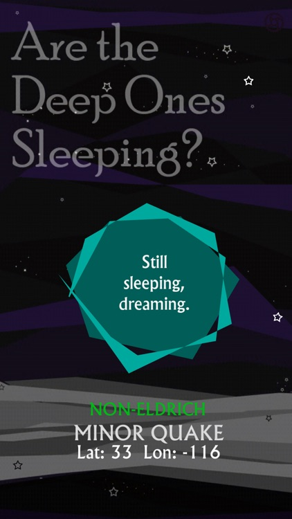 Are the Deep Ones Sleeping