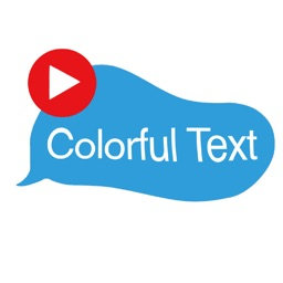 Animated colorful text sticker