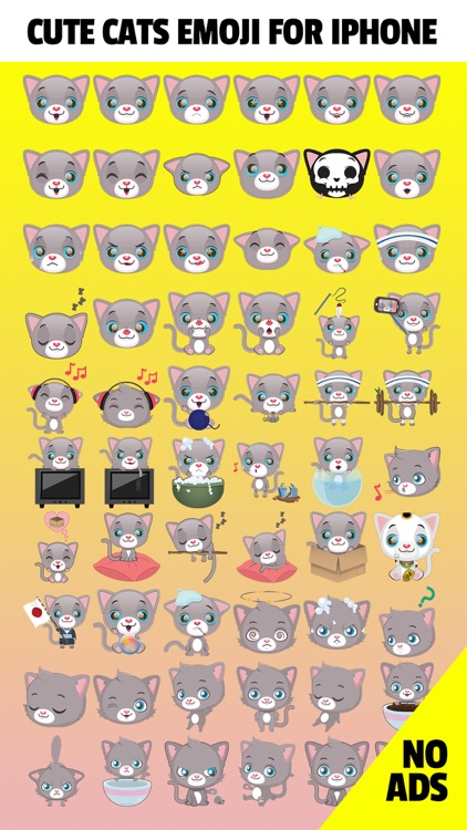 CatLoveMoji - Cute Cats Emoji Stickers App