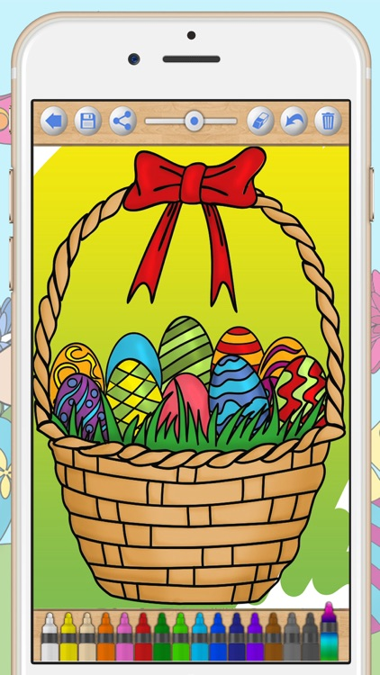 Easter Bunny Coloring Pages screenshot-4