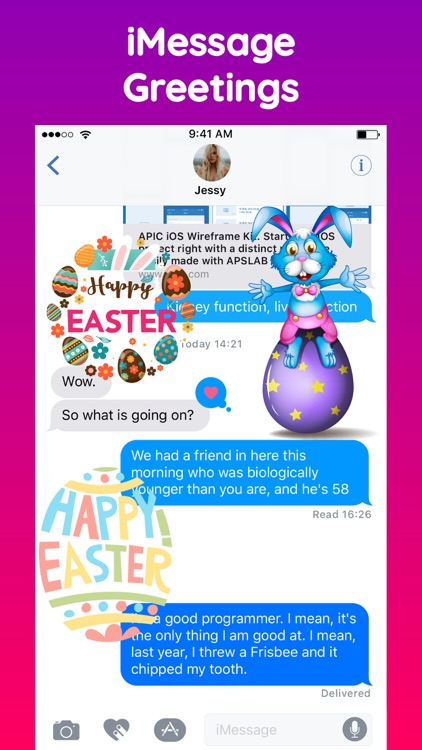 Animated Happy Easter Stickers screenshot-5