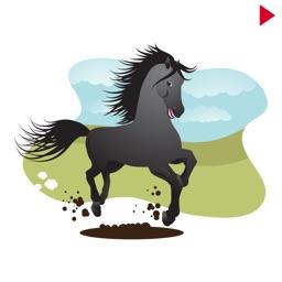 Black Horse Cowboy Stickers