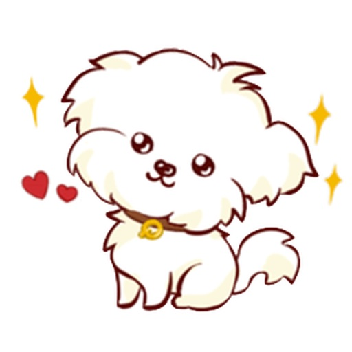 Cute Small Maltese Dog Sticker