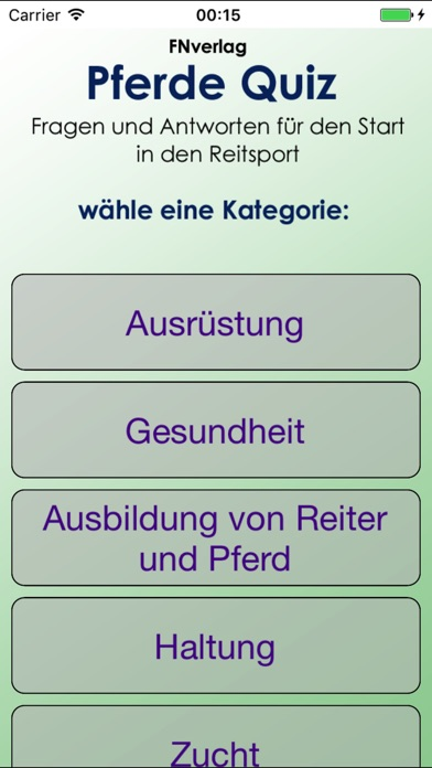 Screenshot for Pferde Quiz in Germany App Store